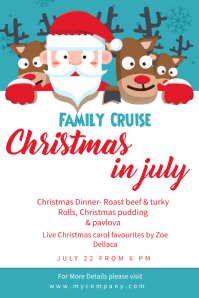 Christmas In July Event Poster Template