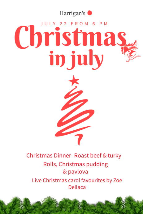 Christmas In July Poster Template