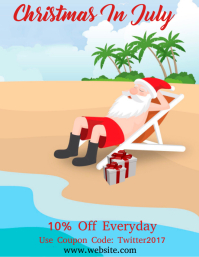 Christmas in July Flyer (format US Letter) template