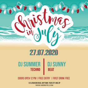 CHRISTMAS IN JULY PARTY EVENT Design Template