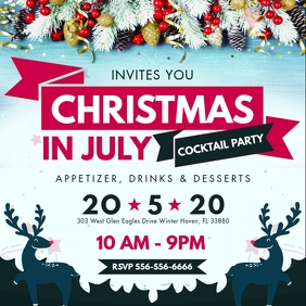 Christmas in July Party Instagram Post Invite