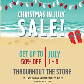 CHRISTMAS IN JULY SALE EVENT Design Template Square (1:1)