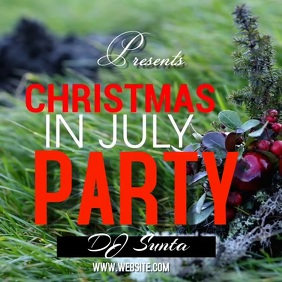 christmas in july SOCIAL MEDIA TEMPLATE Instagram Post
