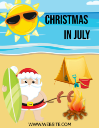 Christmas IN July Pamflet (Letter AS) template