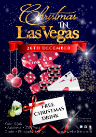 Christmas in Las Vegas Night Poster A2 template