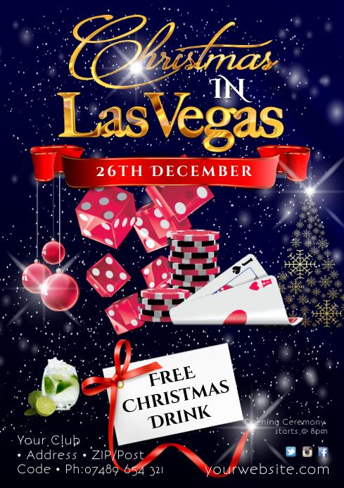 Christmas in Las Vegas Night Poster