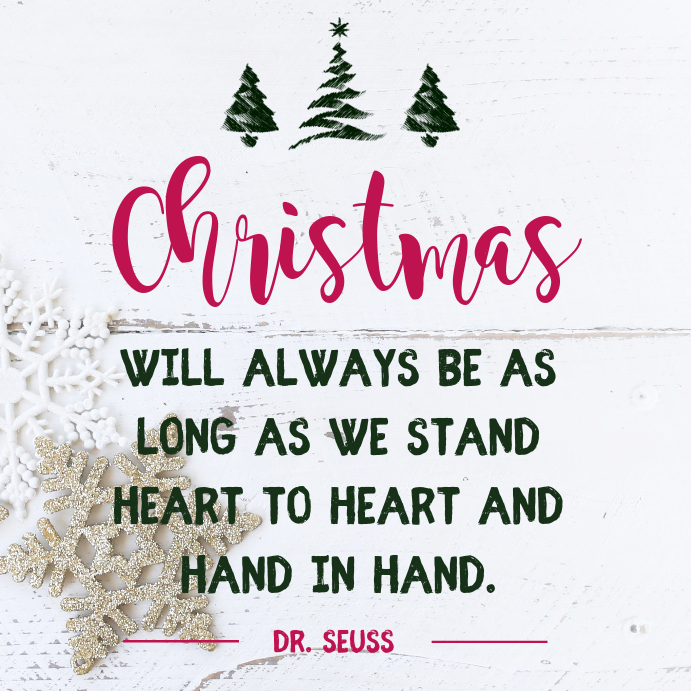 Christmas In Our Hearts.Christmas In Our Hearts Quote Instagram Template Postermywall