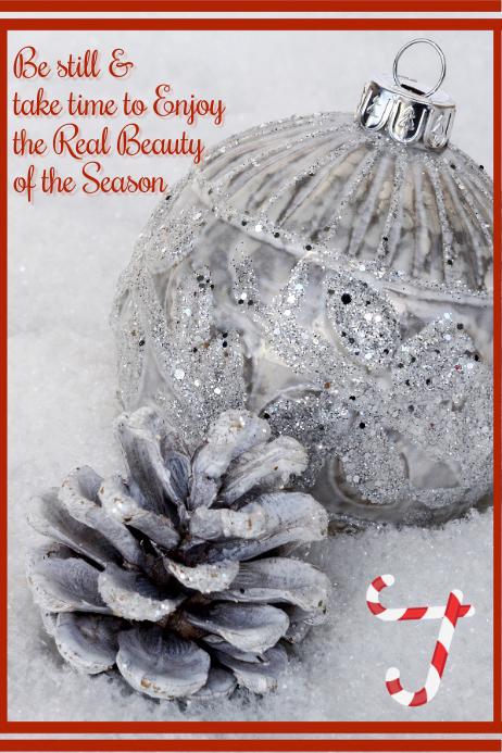 Christmas Inspiration Poster Plakat template
