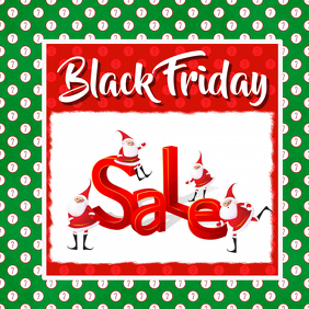 Christmas Instagram Black Friday Sale Template Announcement