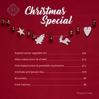 Christmas instagram menu template