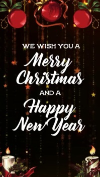 370 merry christmas and happy new year customizable design templates postermywall 370 merry christmas and happy new year