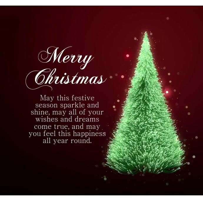 Christmas instagram video Greeting card
