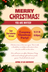 Christmas Poster Invitation