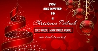 Christmas invite Facebook Shared Image template