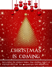 Christmas is Coming Retail Poster