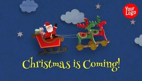 Christmas is coming santa animation blog head Blogkop template