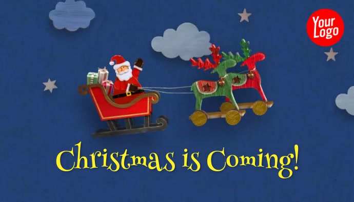 Christmas is coming santa animation blog head template