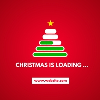 christmas is loading instagram post advertise template