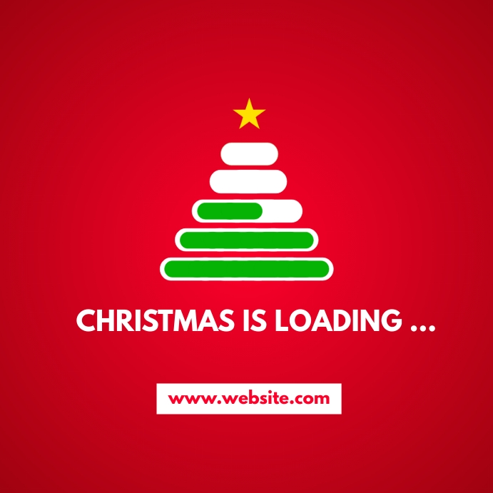 christmas is loading instagram post advertise Instagram-bericht template