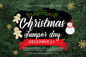 Christmas Jumper Day Event Invitation Poster
