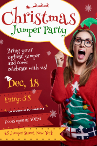 Christmas Jumper Party Poster