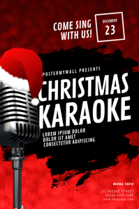 Christmas Karaoke Flyer Design Template Poster
