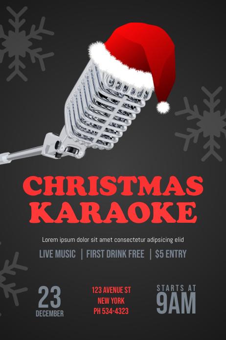 Christmas Karaoke Flyer Template