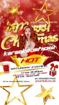 Christmas Karaoke Show Affichage numérique (9:16) template