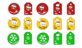 Christmas Tags Merker template