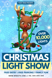 Christmas Light Show Poster