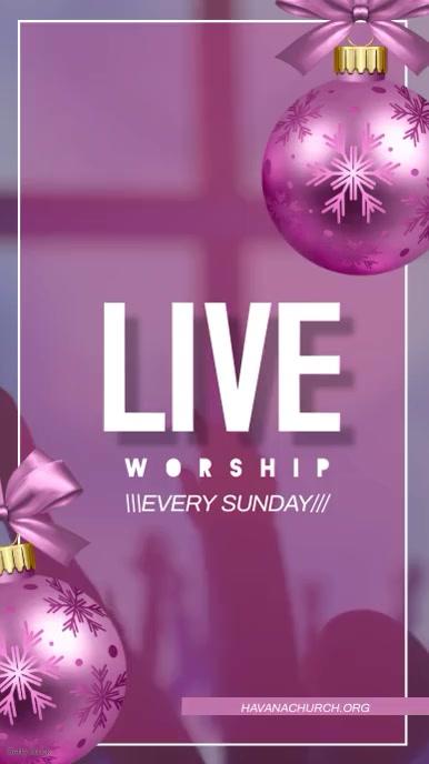 Christmas Live Worship Instagram Story Instagram-verhaal template