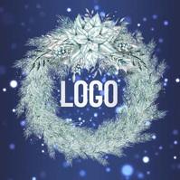 CHRISTMAS logo design template Логотип
