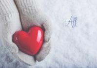 Christmas Love Postkort template