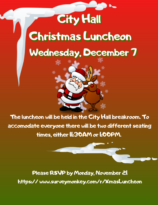 christmas lunch invite template postermywall