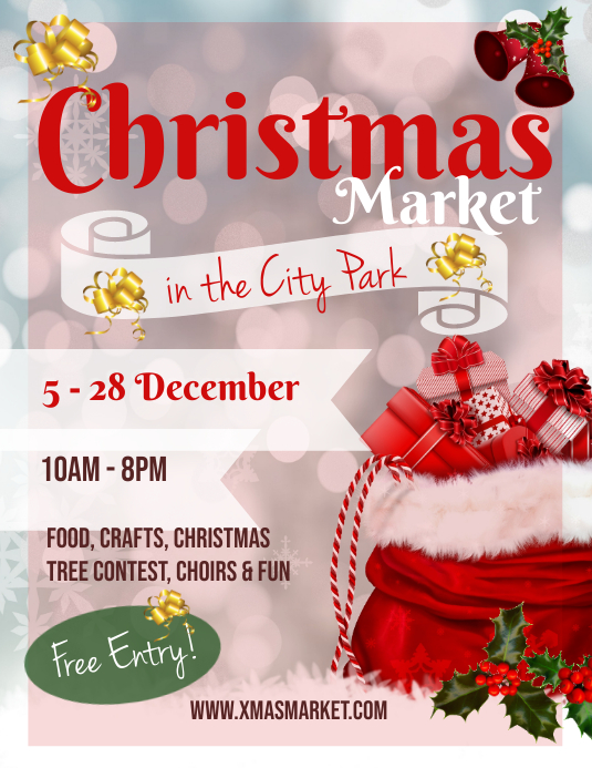 Christmas Market Ad Flyer Pamflet (Letter AS) template