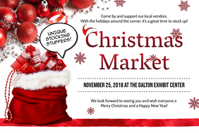 Christmas Market at Mall Banner Advertisement Poster template