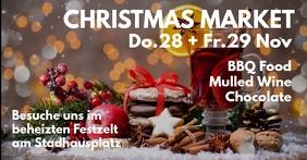 Christmas Market Cover Advert Invitation Shop Facebook-gebeurtenisomslag template