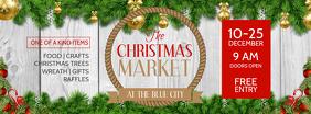 Christmas Market Facebook Cover Photo