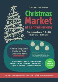 Christmas Market Flyer A4 template