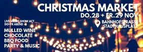 Christmas Market Header Cover Invitation Ad