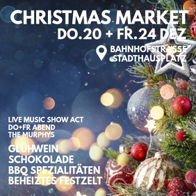 Christmas Market Invitation Promotion Special