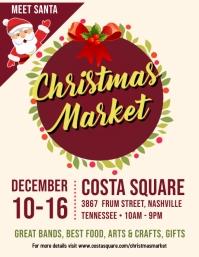 Christmas Market Open Event Flyer Design