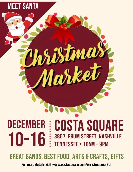 Christmas Market Open Event Flyer Design