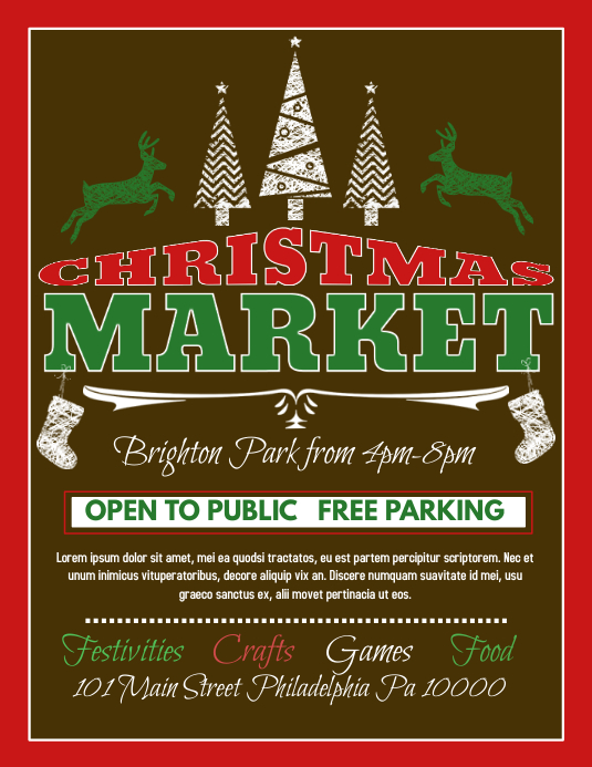 Philadelphia Christmas Market.Christmas Market Template Postermywall