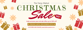 Christmas Market Sale Banner Facebook-coverfoto template
