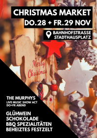 Christmas Market Shopping Retail Advert Flyer
