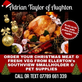 Christmas Meat & Vegetable Order 1