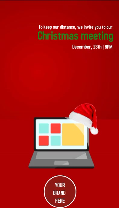 Christmas meeting Invited นามบัตร template