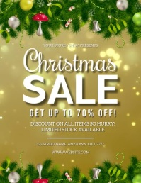 CHRISTMAS MEGA BIG SALE EVENT FLYER TEMPLATE Ulotka (US Letter)