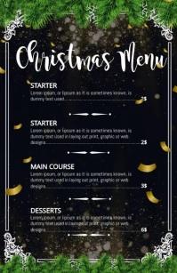 Christmas menu, Christmas, Menu Half Page Wide template